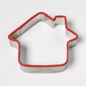 NWT Threshold House Shaped Red Cookie Cutter